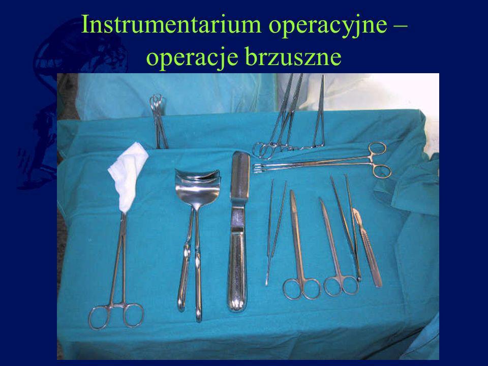 Instrumentarium operacyjne – operacje brzuszne