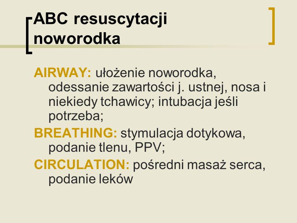 ABC resuscytacji noworodka