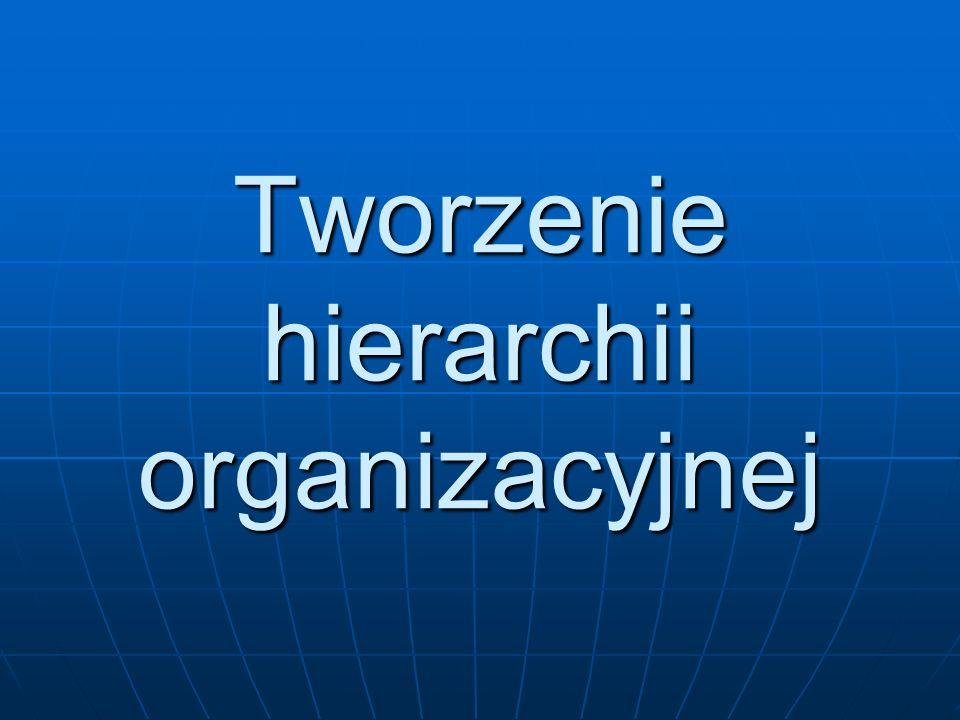 Tworzenie hierarchii organizacyjnej