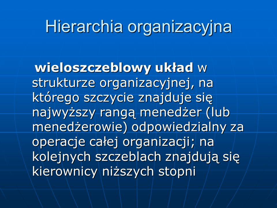 Hierarchia organizacyjna