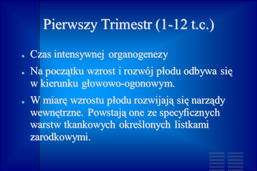 Pierwszy Trimestr (1-12 t.c.)