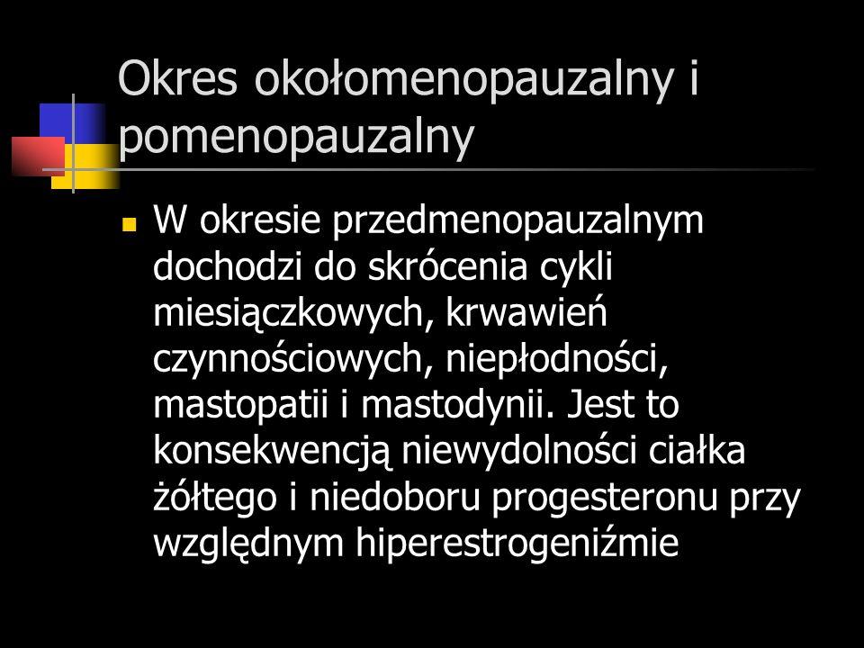 Okres okołomenopauzalny i pomenopauzalny