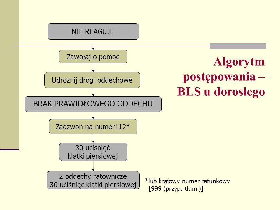 Algorytm postępowania – BLS u dorosłego