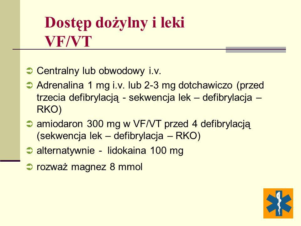 Dostęp dożylny i leki VF/VT