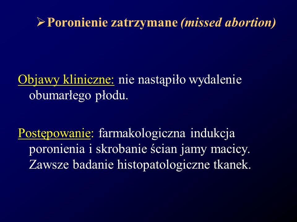 Poronienie zatrzymane (missed abortion)