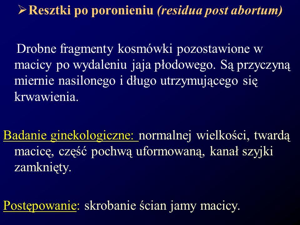 Resztki po poronieniu (residua post abortum)