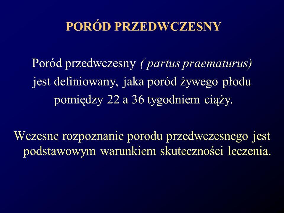 Poród przedwczesny ( partus praematurus)