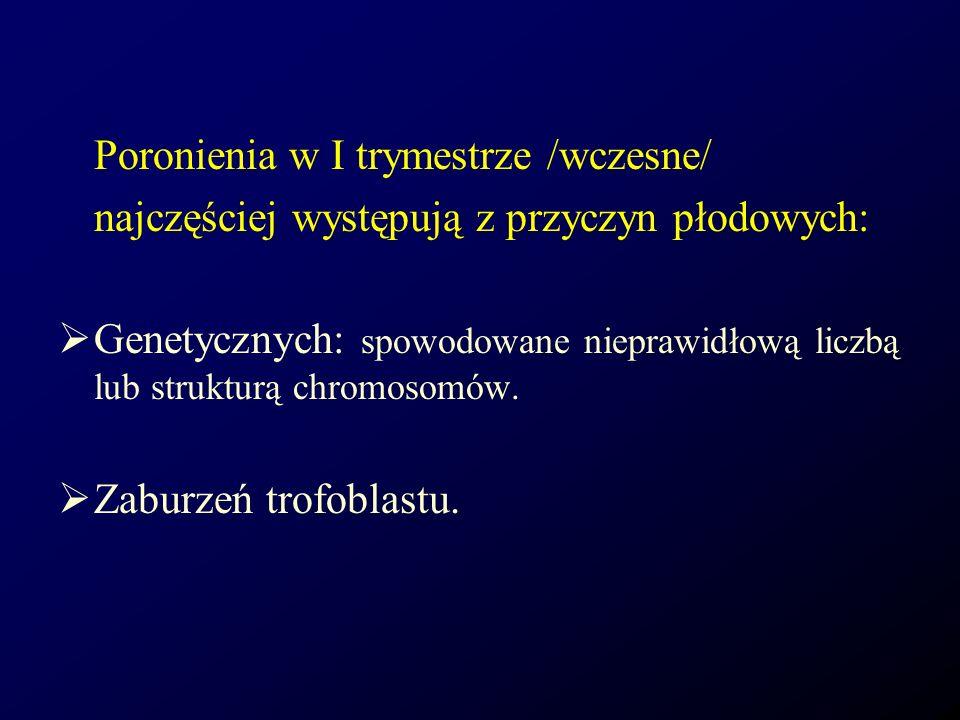 Poronienia w I trymestrze /wczesne/