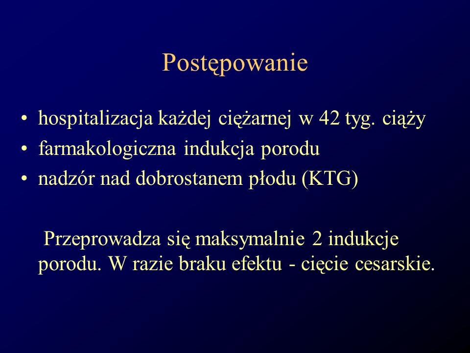 Postępowanie hospitalizacja każdej ciężarnej w 42 tyg. ciąży