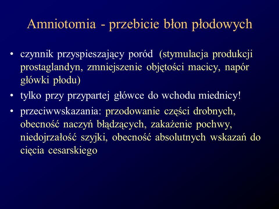 Amniotomia - przebicie błon płodowych