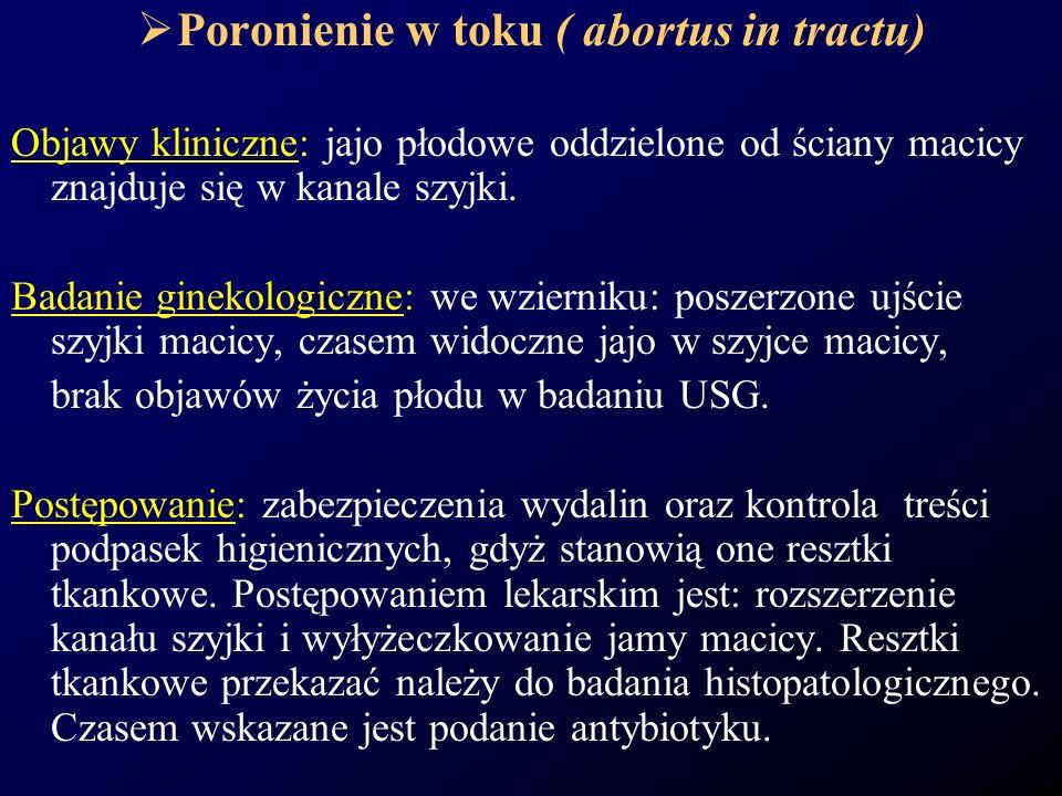 Poronienie w toku ( abortus in tractu)