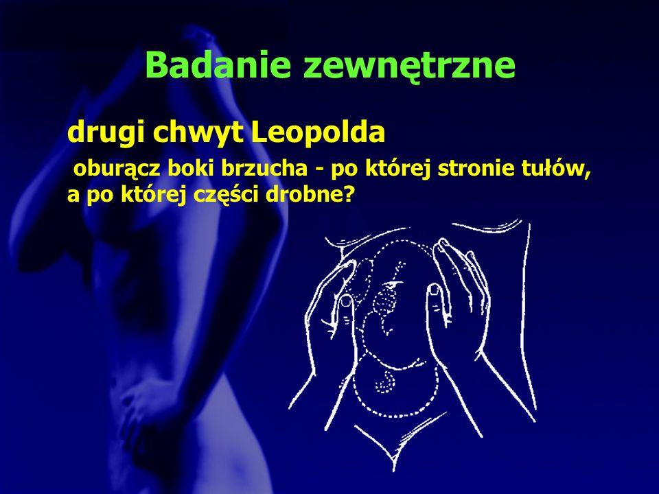 Badanie zewnętrzne drugi chwyt Leopolda