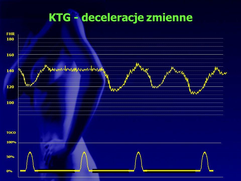 KTG - deceleracje zmienne