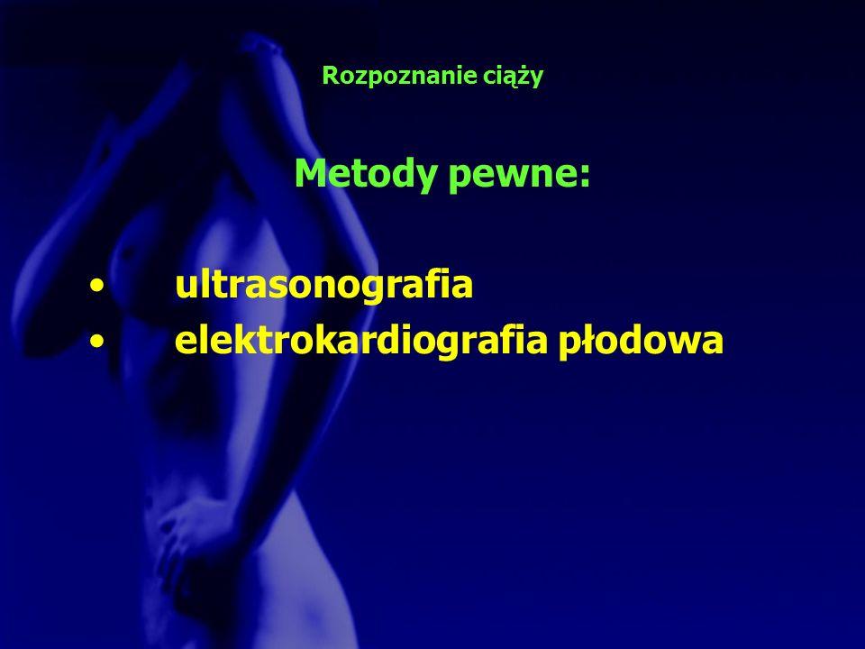 Metody pewne: ultrasonografia elektrokardiografia płodowa