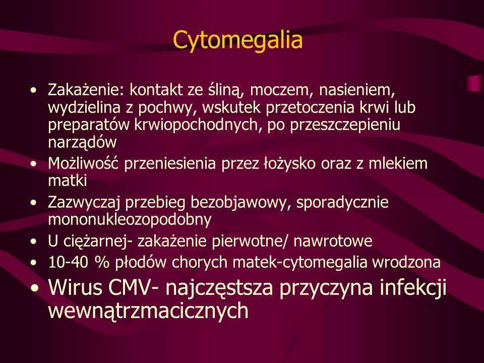 Cytomegalia