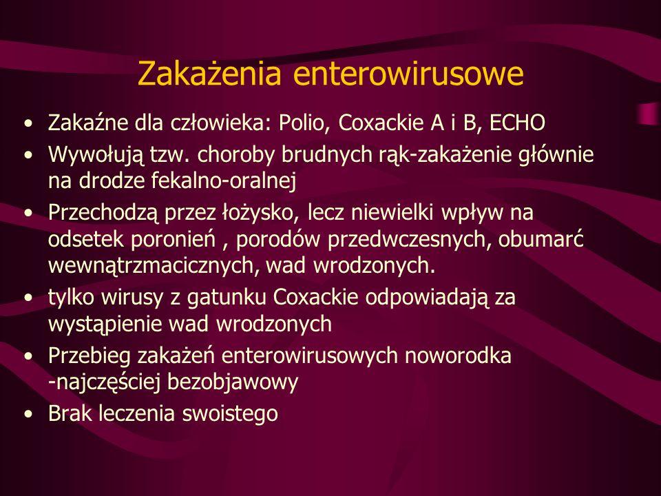 Zakażenia enterowirusowe