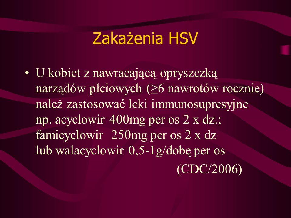 Zakażenia HSV