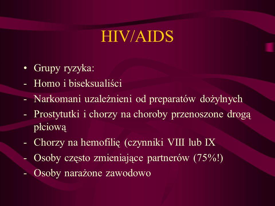 HIV/AIDS Grupy ryzyka: Homo i biseksualiści