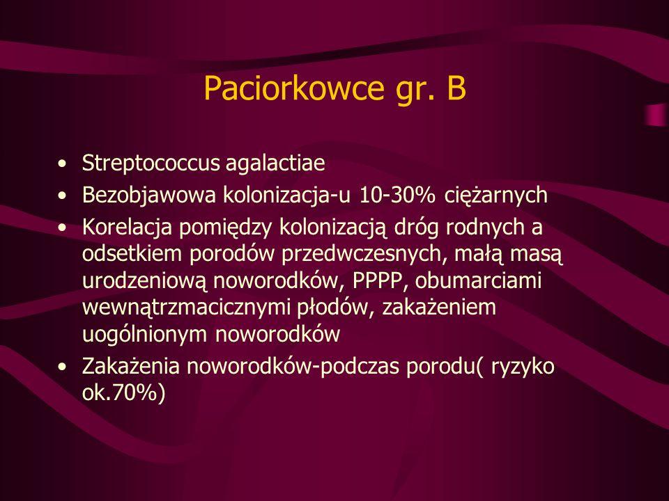 Paciorkowce gr. B Streptococcus agalactiae