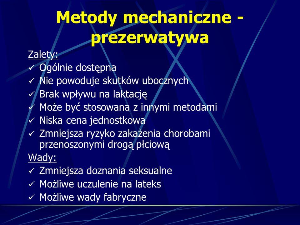 Metody mechaniczne - prezerwatywa