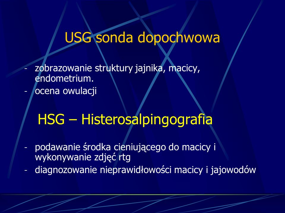 HSG – Histerosalpingografia