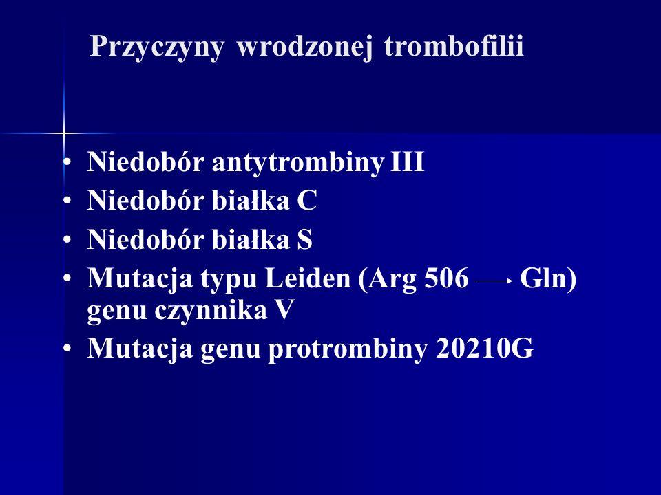 Przyczyny wrodzonej trombofilii