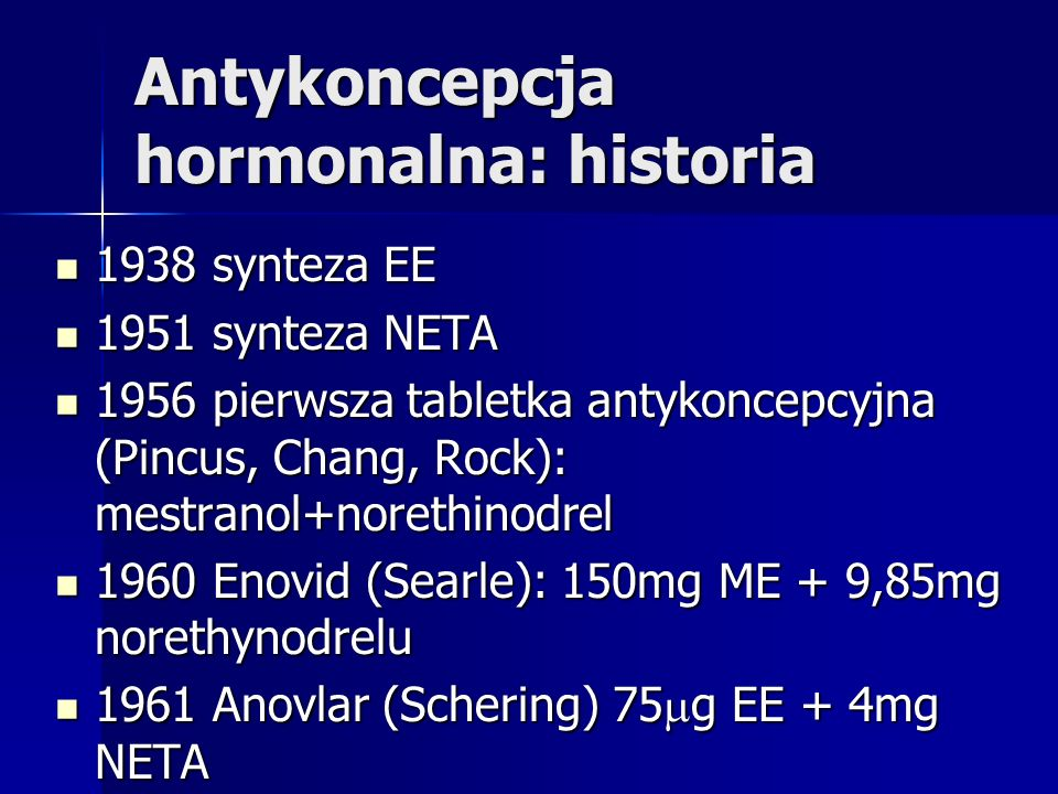 Antykoncepcja hormonalna: historia
