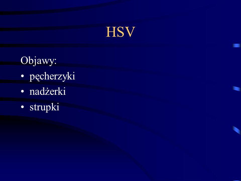 HSV Objawy: pęcherzyki nadżerki strupki