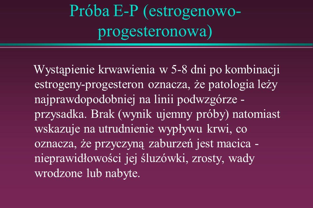 Próba E-P (estrogenowo-progesteronowa)