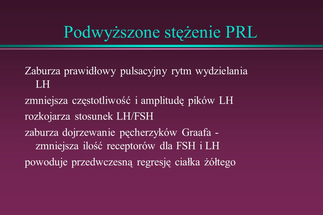 Podwyższone stężenie PRL
