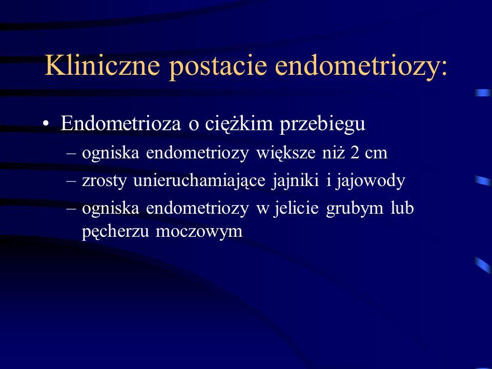 Kliniczne postacie endometriozy: