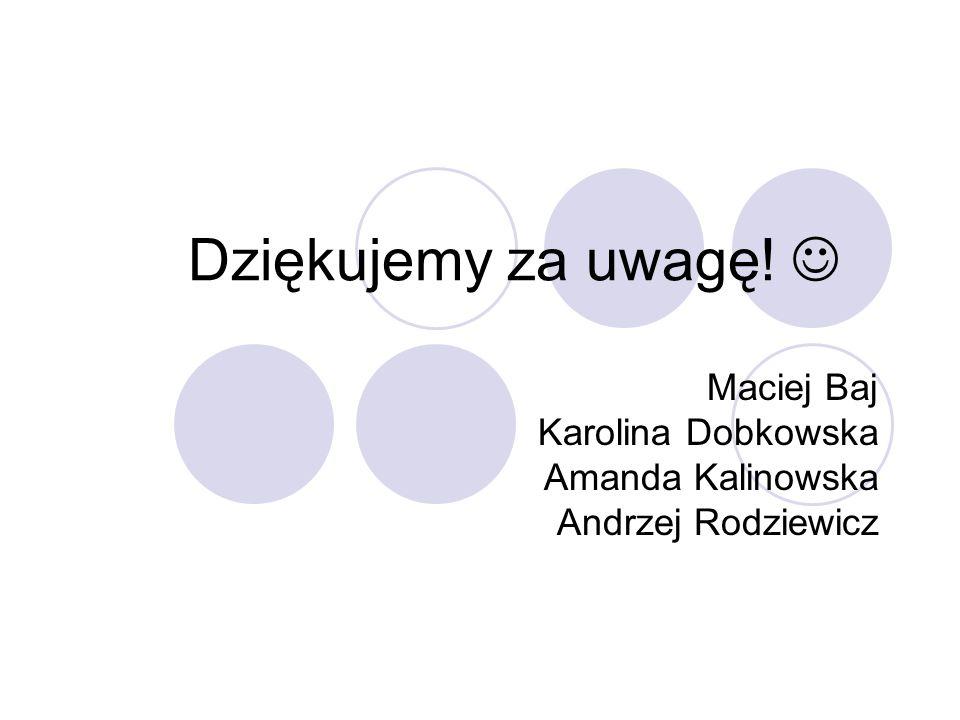 Maciej Baj Karolina Dobkowska Amanda Kalinowska Andrzej Rodziewicz