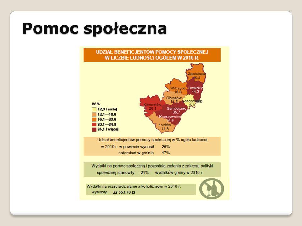 Pomoc społeczna STRATEGIA ROZWOJU SPOŁECZNO - GOSPODARCZEGO GMINY ŁAPANÓW NA LATA 2010 - 2020