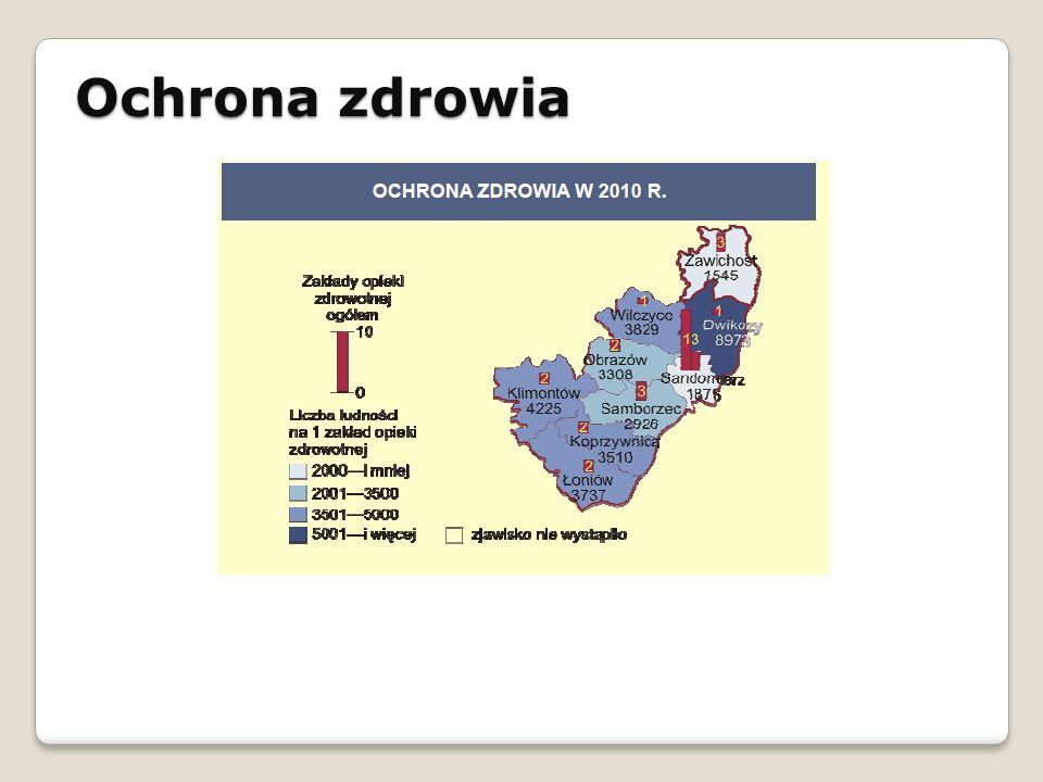 Ochrona zdrowia STRATEGIA ROZWOJU SPOŁECZNO - GOSPODARCZEGO GMINY ŁAPANÓW NA LATA 2010 - 2020