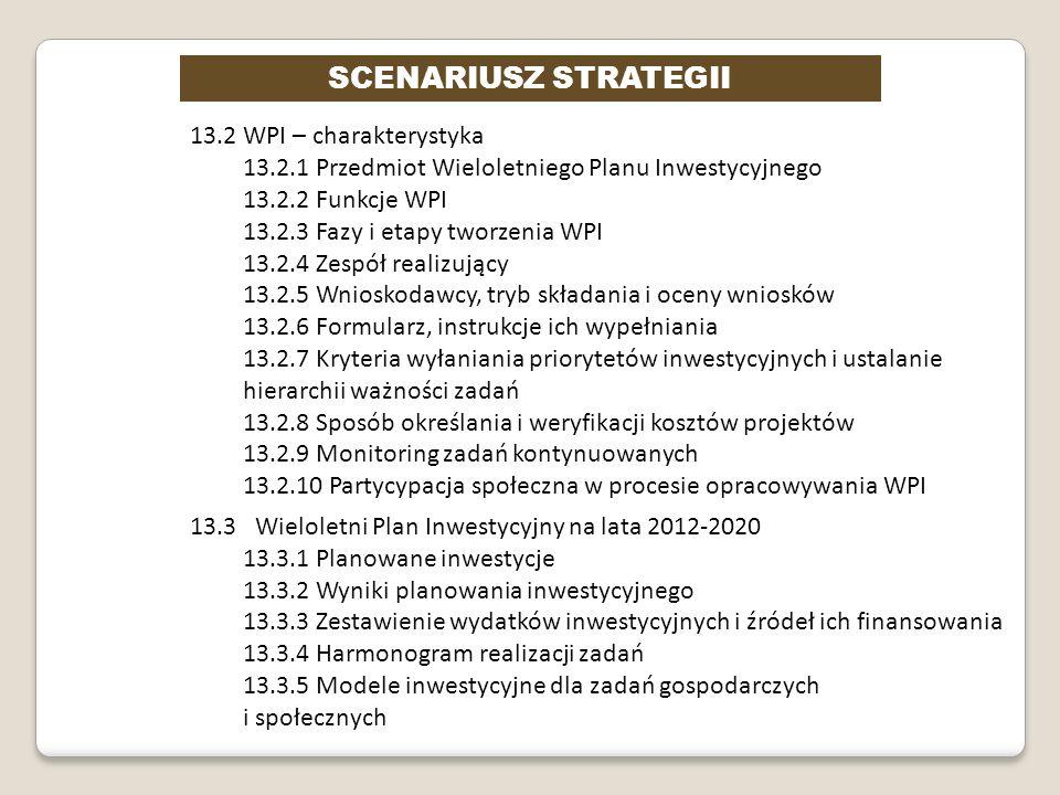 SCENARIUSZ STRATEGII 13.2 WPI – charakterystyka