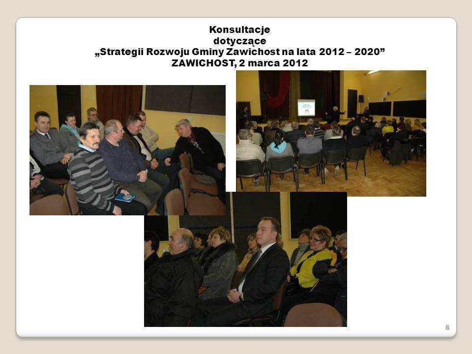 """""""Strategii Rozwoju Gminy Zawichost na lata 2012 – 2020"""