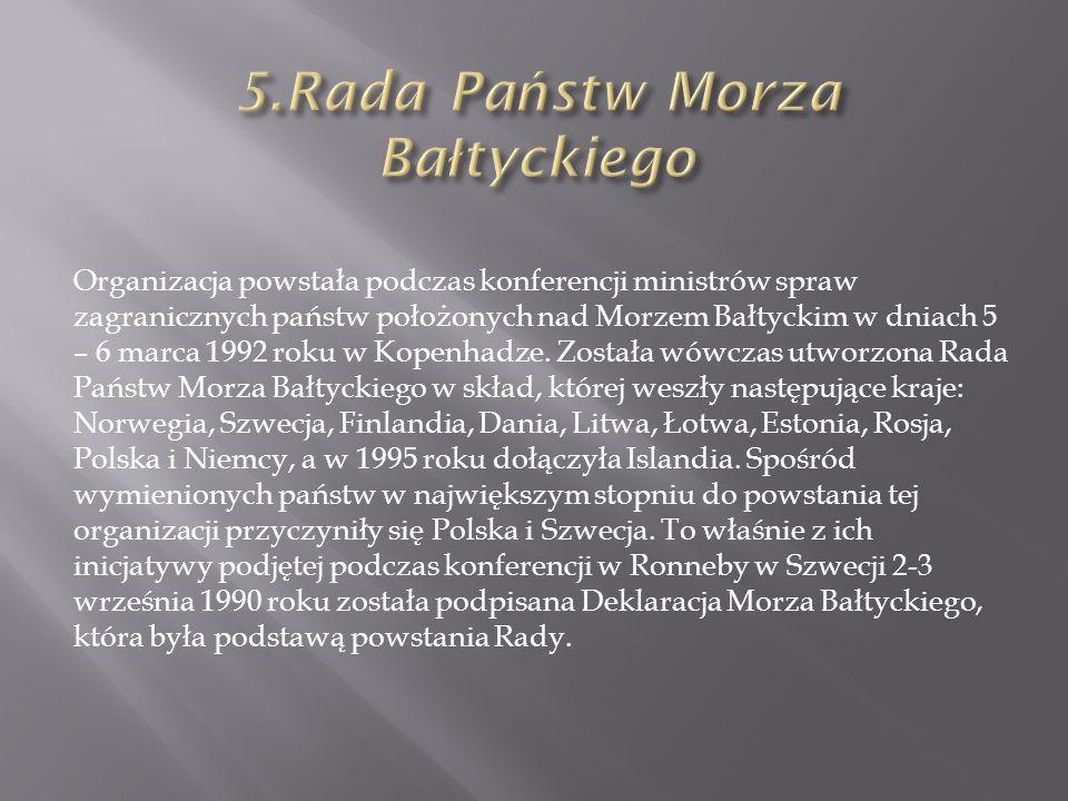 5.Rada Państw Morza Bałtyckiego