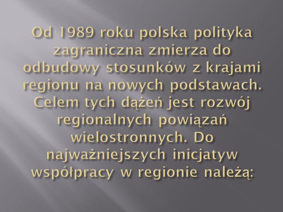 Od 1989 roku polska polityka zagraniczna zmierza do odbudowy stosunków z krajami regionu na nowych podstawach.
