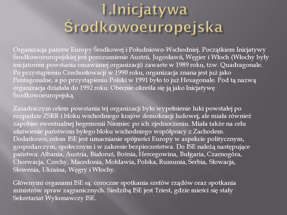 1.Inicjatywa Środkowoeuropejska