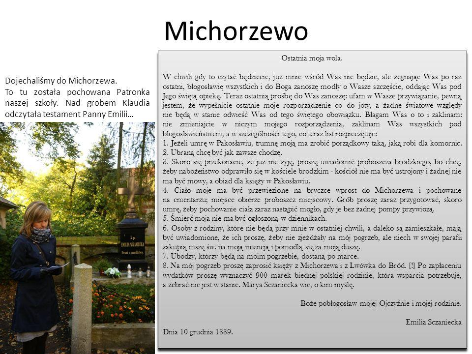 Michorzewo Dojechaliśmy do Michorzewa.
