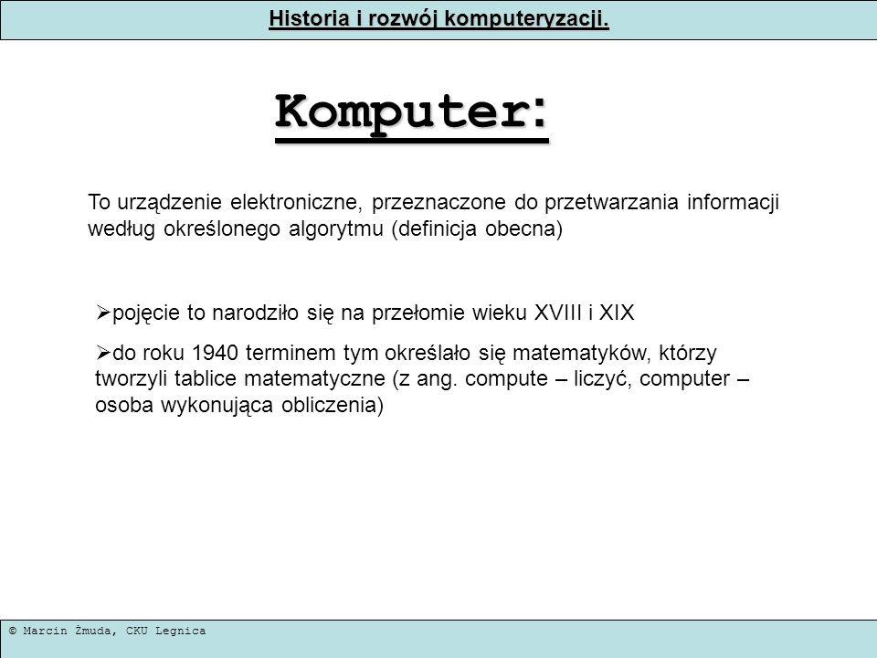 Historia i rozwój komputeryzacji.