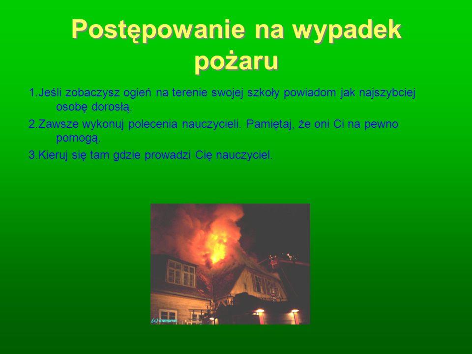 Postępowanie na wypadek pożaru