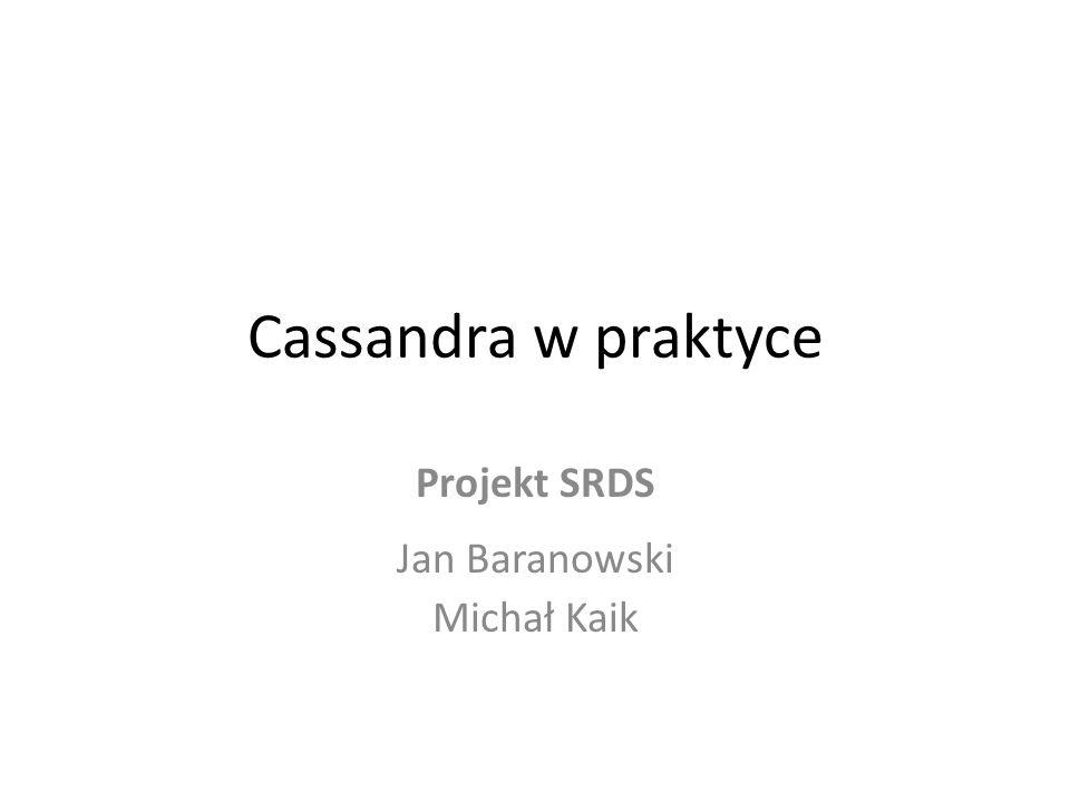 Projekt SRDS Jan Baranowski Michał Kaik