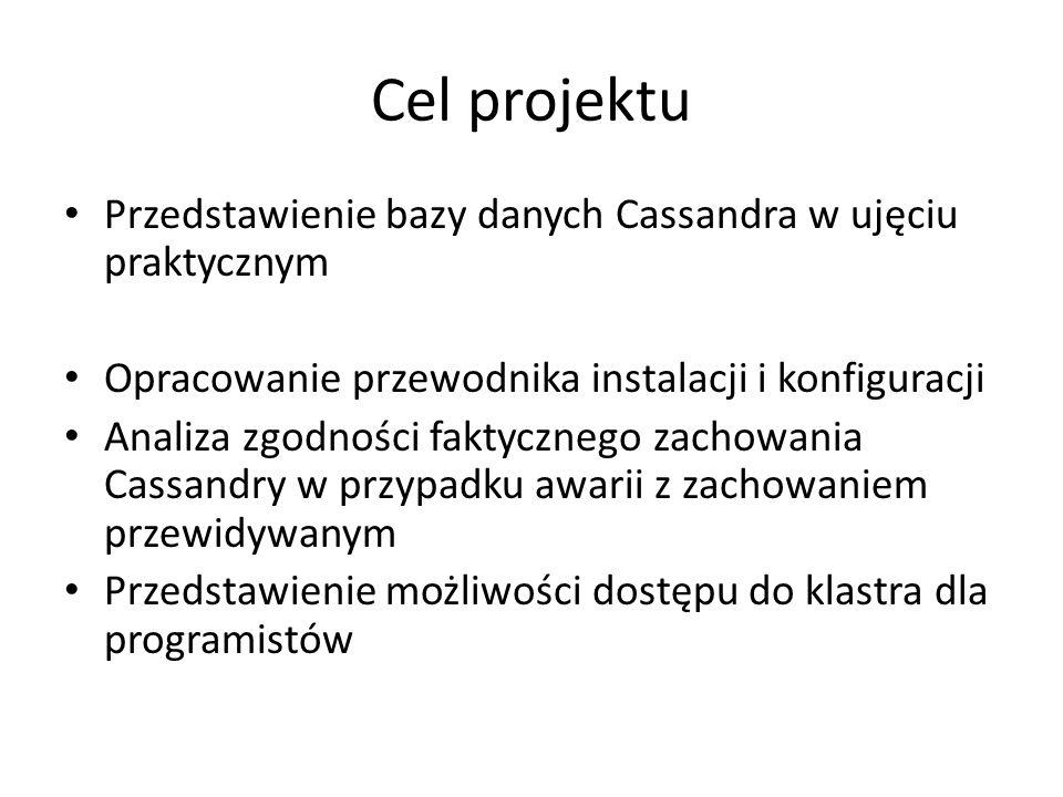 Cel projektu Przedstawienie bazy danych Cassandra w ujęciu praktycznym