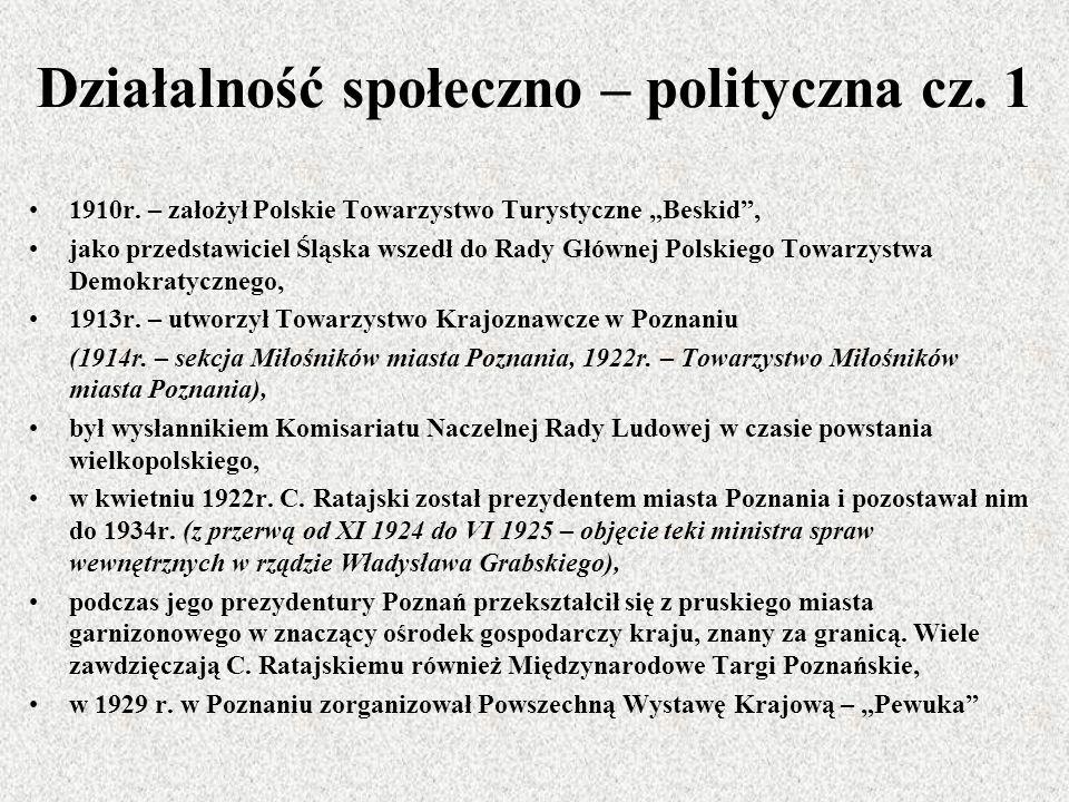 Działalność społeczno – polityczna cz. 1