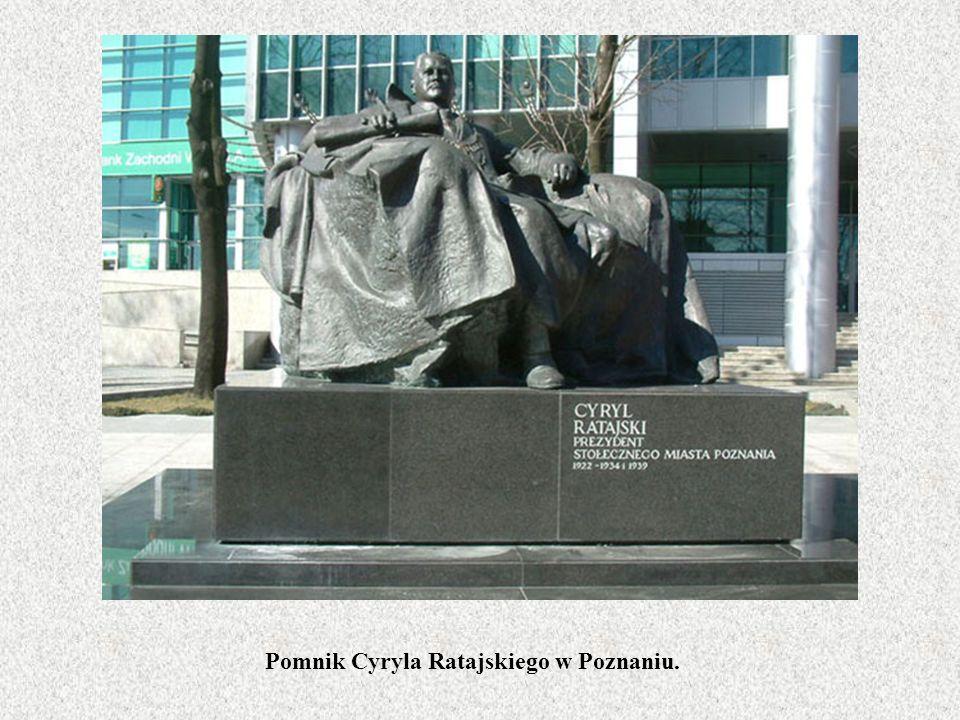 Pomnik Cyryla Ratajskiego w Poznaniu.