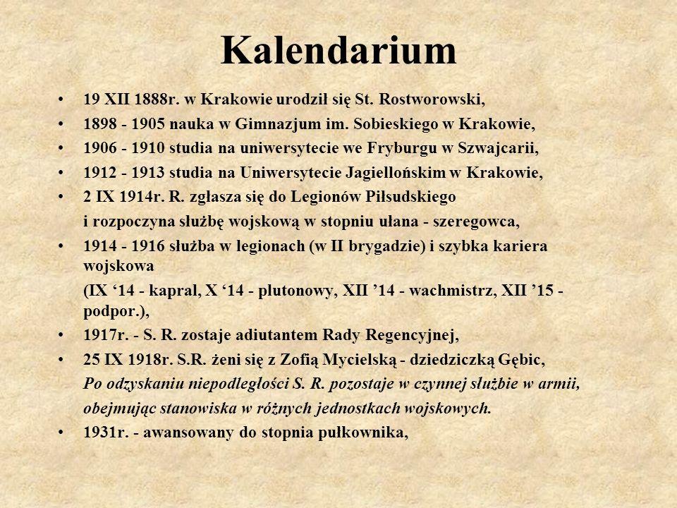 Kalendarium 19 XII 1888r. w Krakowie urodził się St. Rostworowski,