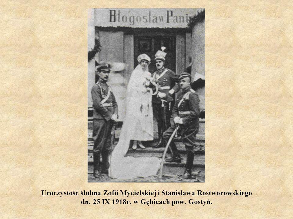 Uroczystość ślubna Zofii Mycielskiej i Stanisława Rostworowskiego dn