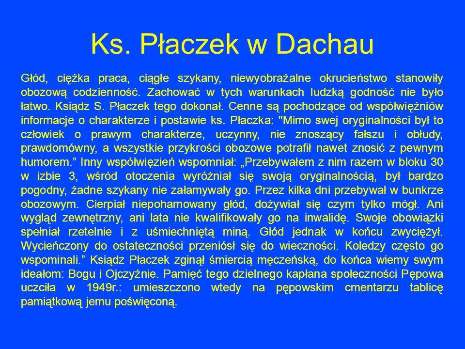 Ks. Płaczek w Dachau