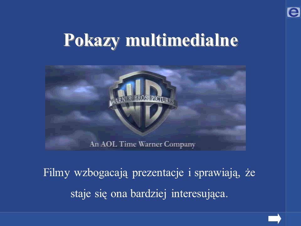 Pokazy multimedialne Filmy wzbogacają prezentacje i sprawiają, że